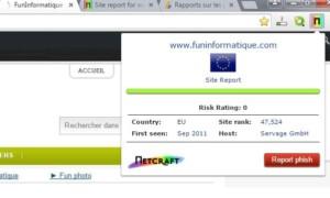 Protégete de sitios fraudulentos con Netcraft