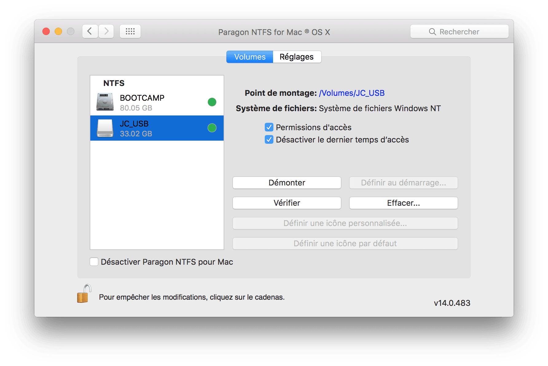 NTFS Mac OS X X X El Capitan: escribir en un volumen de Windows