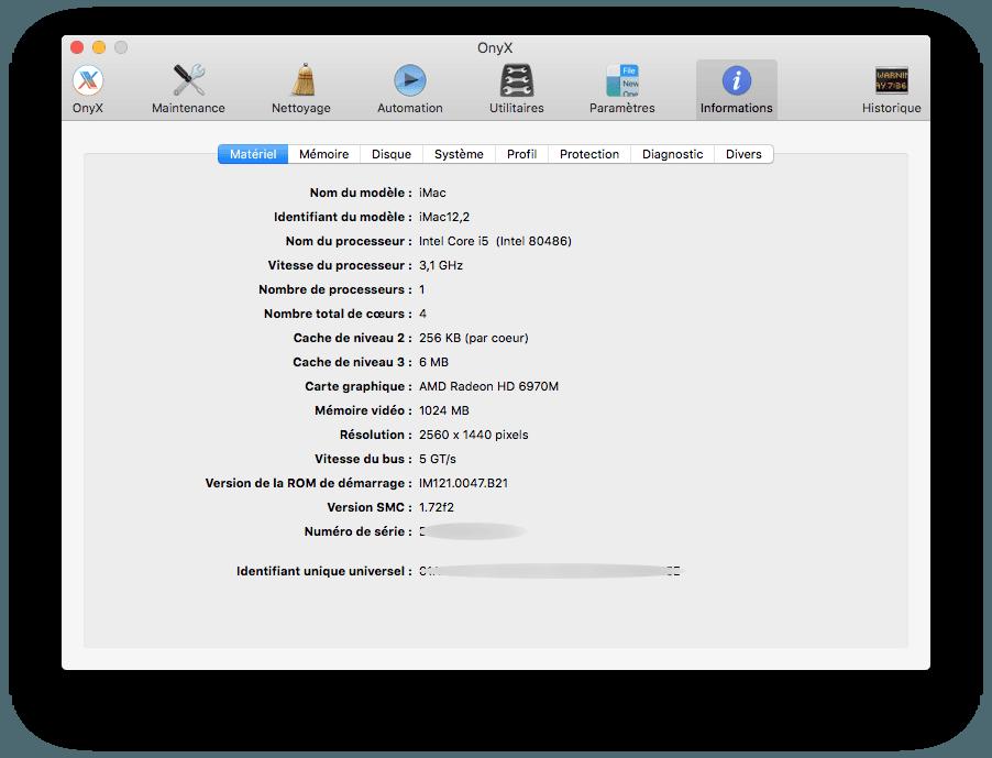 Onyx El Capitan (OS X 10.11) : instrucciones de uso