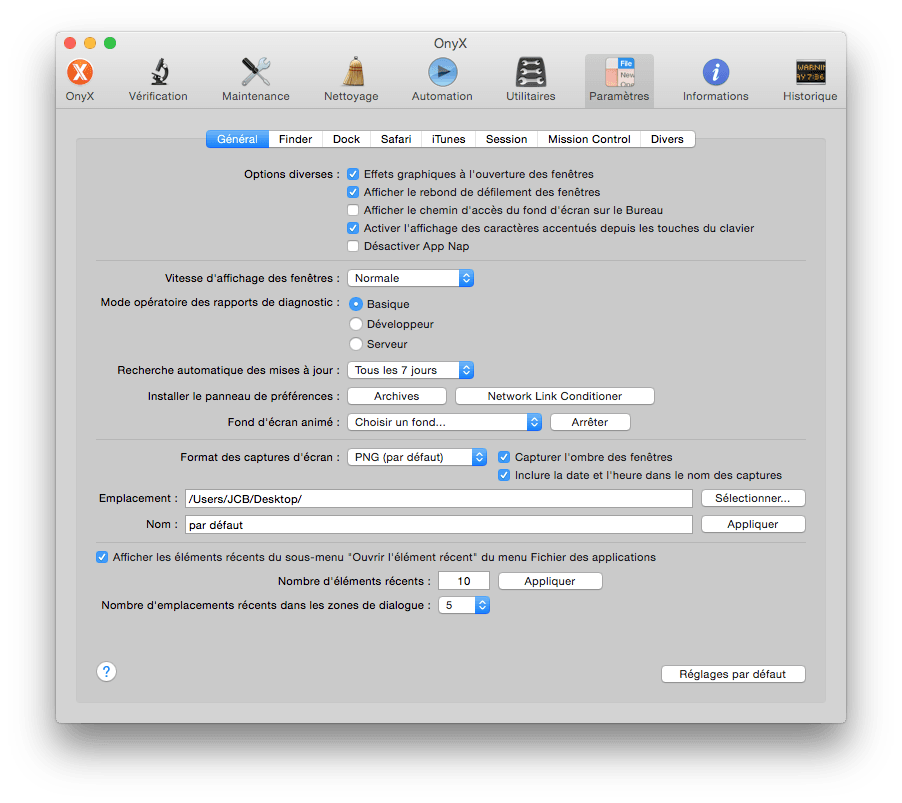 Onyx Yosemite 100% funcional (Mac OS X 10.10)
