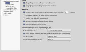 Habilitar el backup automático en LibreOffice