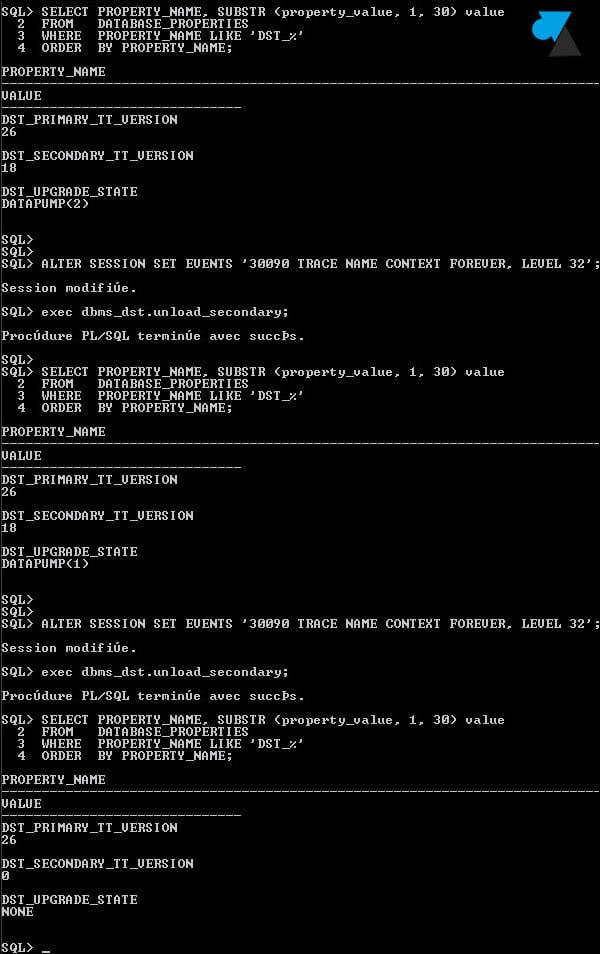 Oracle ORA-56935: Corregir error de zona horaria