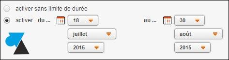 Poner un mensaje de ausencia en el buzón de Orange