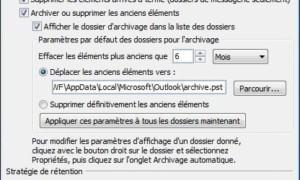 Archivo automático de correo electrónico en Outlook 2007