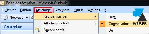 Outlook: agrupar mensajes en conversaciones