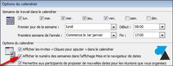 Ver los números de semana en Outlook 2007, 2010 y 2013