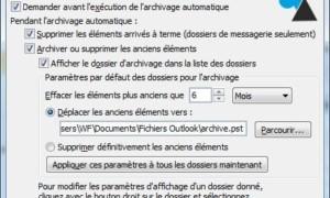 Archivo automático de correo electrónico en Outlook 2010