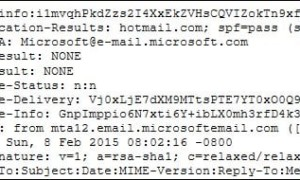 Mostrar el encabezado de un mensaje de Hotmail / Outlook.com