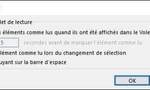 "Outlook: dejar mensajes ""sin leer""."