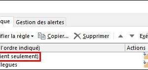 Outlook: diferencia entre la regla del lado del servidor y la del lado del cliente solamente