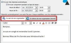Outlook: poner un mensaje de ausencia para las vacaciones