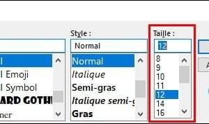 Outlook: aumentar el tamaño de la lista de mensajes