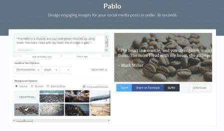 Pablo, la herramienta ideal para crear imágenes con citas