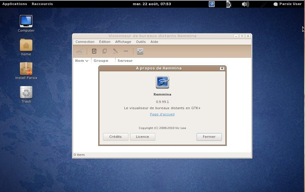 Linux es bueno! La prueba Parsix