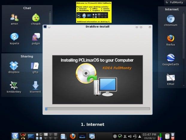 PCLinuxOS KDE FullMonty 2012.09