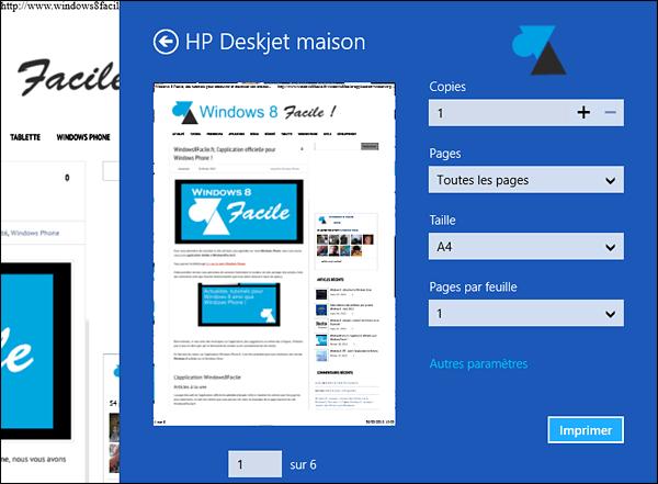 Impresión de un archivo PDF en Windows 8