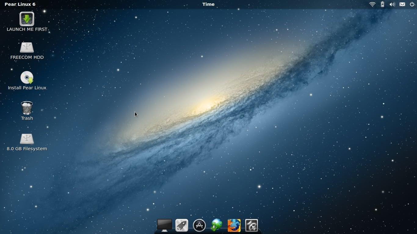 Distribución de Pear Linux 6 Linux a la pera