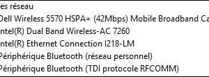 Encontrar la referencia de la tarjeta de red / wifi