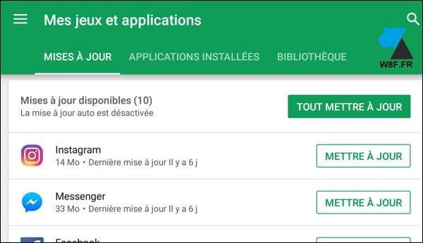 Android: comprueba si hay actualizaciones de aplicaciones y juegos
