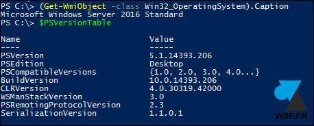 Windows Server: vea la versión instalada de PowerShell