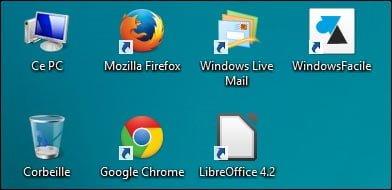 Adición de accesos directos de programa en el escritorio de Windows 8 y 8.1
