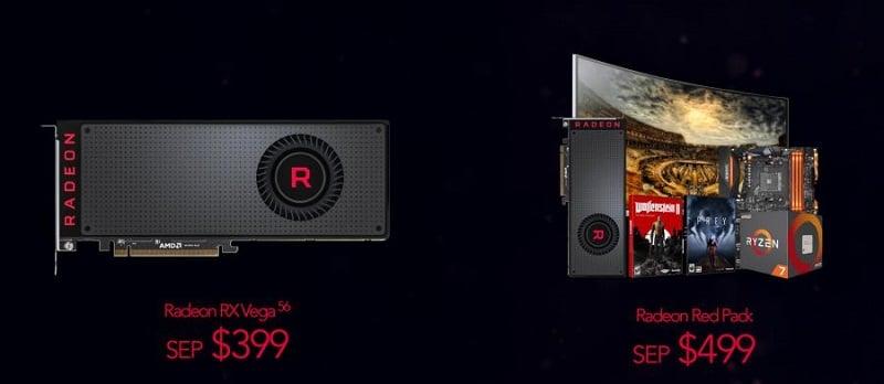 AMD Radeon RX Vega Official Vega: Las tarjetas gráficas estarán disponibles el 14 de agosto desde