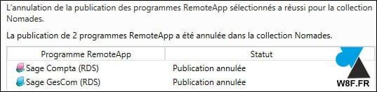 Microsoft RDS: eliminar una aplicación publicada