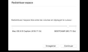 Redimensionar una partición en Mac OS X El Capitan (10.11)