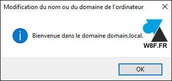 Imposible renombrar un PC con Windows como miembro de un dominio de Active Directory.