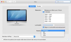 Rotación de pantalla Mac OS X El Capitan (10.11)
