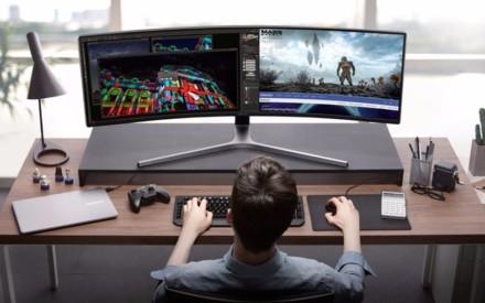 Samsung ahora está vendiendo esta monstruosa pantalla de videojuegos de 49 pulgadas!