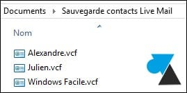 Realizar copias de seguridad de los contactos de Windows Live Mail