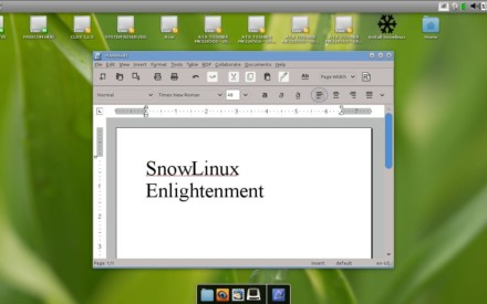 Una distribución con Enlightenment, SnowLinux