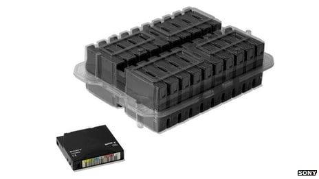 Sony desarrolla una cinta que almacena 185 terabytes