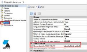 SQL Server: habilitar las funciones FullText y FileStream