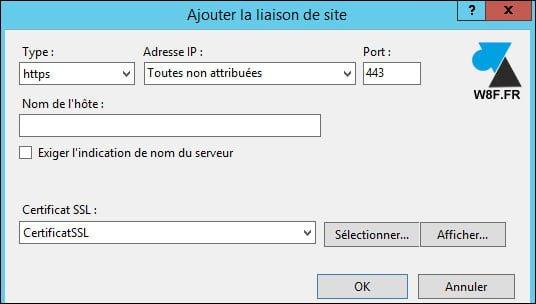 Instalar o renovar un certificado SSL en Microsoft IIS