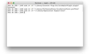 Desinstalar Java de tu Mac completamente