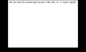 Quita Safari Mac OS X, así como Mail, FaceTime, iTunes.....