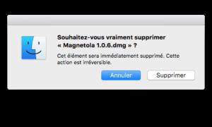 Eliminar un archivo en Mac OS X El Capitan sin pasar por la Papelera