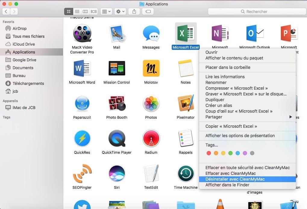 Eliminar una aplicación en macOS Sierra (10.12)