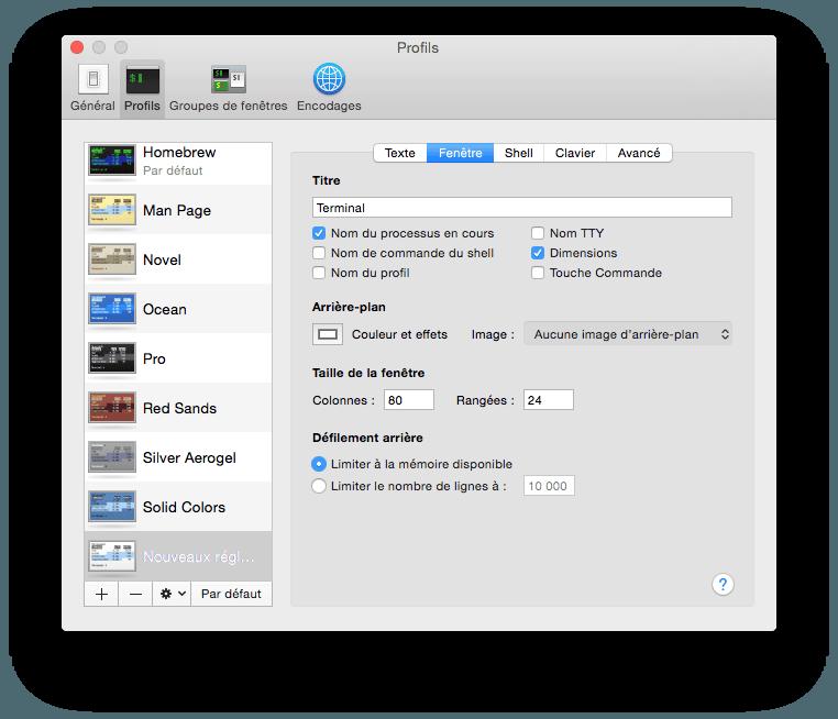 Personalizar el terminal Mac Yosemite (OS X 10.10)