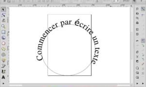 Inkscape el texto hace sus rondas