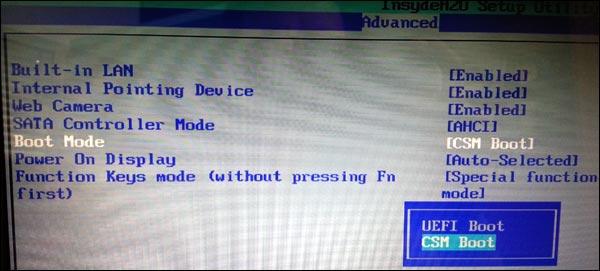 Instalar Windows 7 en un equipo Toshiba adquirido con Windows 8