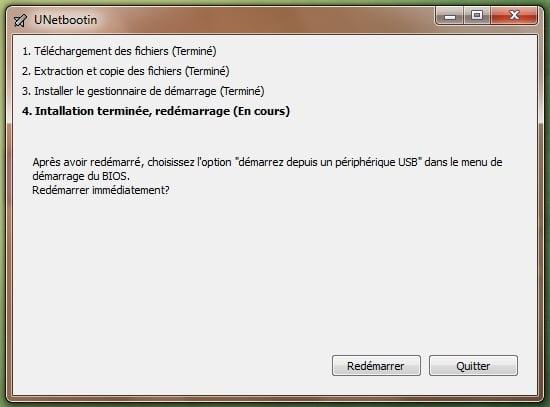 UnetBootIn para iniciar su distribución desde una llave USB
