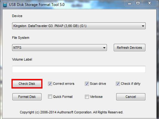 Cómo restaurar su memoria USB defectuosa