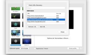 Uso de un sitio web como salvapantallas en Mac OS X El Capitan (10.11)