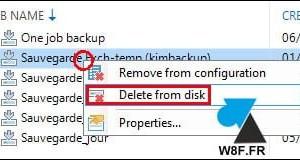 Veeam: eliminar limpiamente los archivos de copia de seguridad