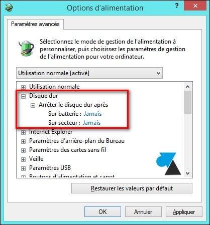 Desactivar el modo de suspensión de la unidad de disco duro