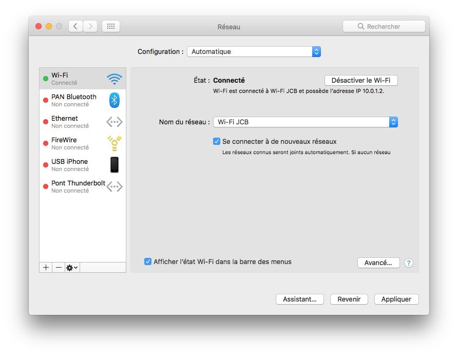 Cambio de la dirección IP de un Mac en OS Sierra (10.12)