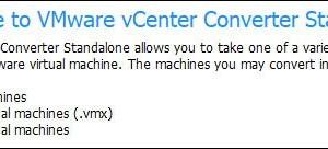 Erreur VMware Converter : No se puede obtener el bloqueo en discos virtuales